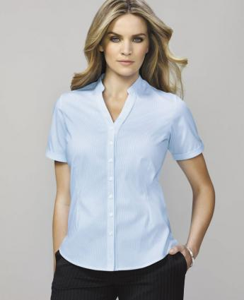 Bordeaux Shirt  - Women's Short Sleeve Shirts for work