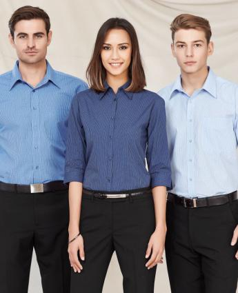 Micro Check Shirt - Men's - Men's Business Shirts NZ