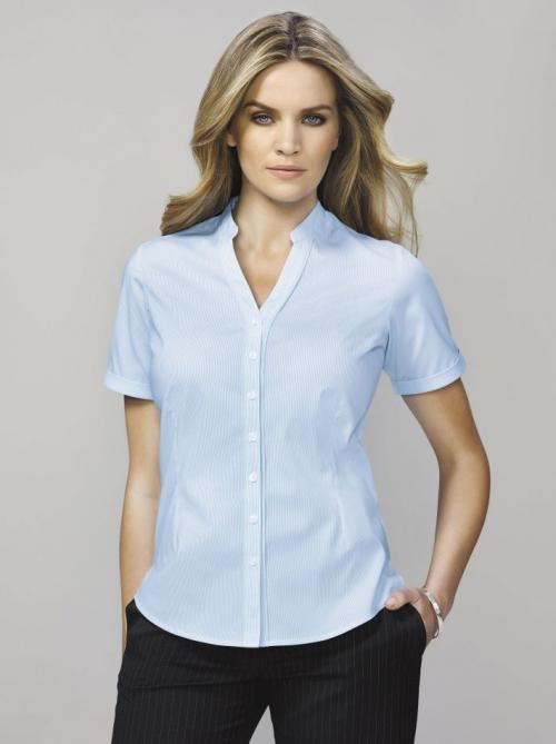 Bordeaux Shirt  - Women's Short Sleeve Shirts for work