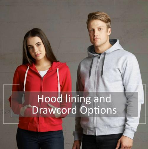 Customize your hood lining & drawcord